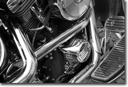 Chrome Harley Exhaust